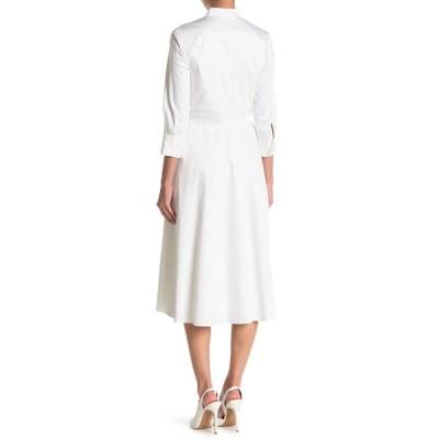エリータハリ レディース ワンピース トップス Ann Waist Tie Woven Fit & Flare Dress WHITE