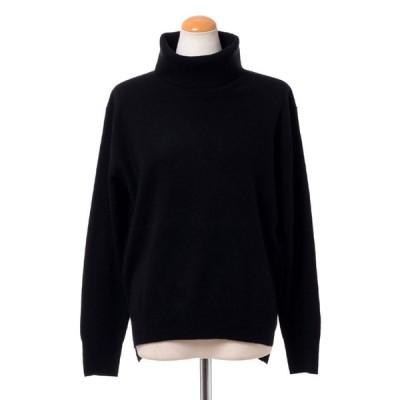 プラスプラス +2 ウールカシミアハイネックセーター ヨコアンティオリジナル ブラック