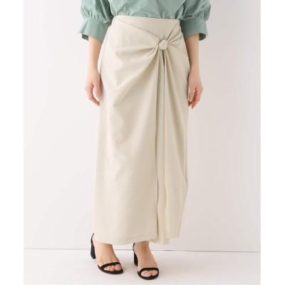 レディース ベーセーストック ツイストドレープロングスカート ベージュ フリー