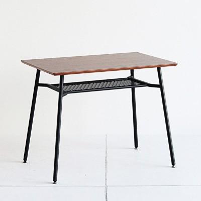ダイニングテーブル 単体 省スペース 机 食卓 デスク 作業台 収納 フェンス棚 一人暮らし 新生活 新婚 おしゃれ インダストリアル 幅90cm