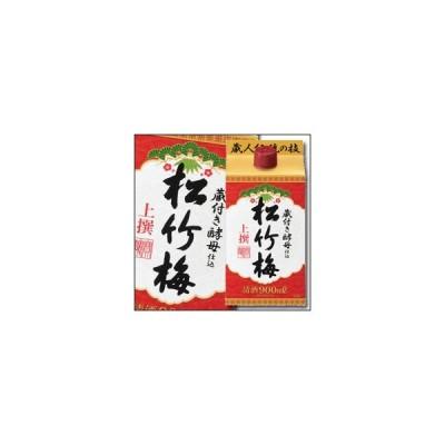 【送料無料】京都・宝酒造 上撰松竹梅 サケパック900ml×1ケース(全6本)
