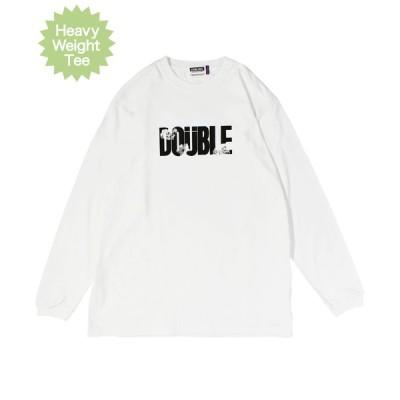 ロンT 長袖 メンズ ストリート ダブルスティール DOUBLE STEAL 2020 FALL / Monotone Flower ヘビーウェイト 長袖Tシャツ