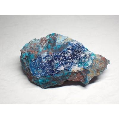 メキシコ産 シャタッカイト(シャッタカイト)・クリソコラ・水晶/Shattuckite・Chrysocolla・Quartz 原石 A-SHA006