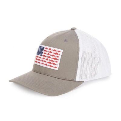 コロンビア メンズ 帽子 アクセサリー PFG Flag Mesh Trucker Cap Titanium/Fish Flag
