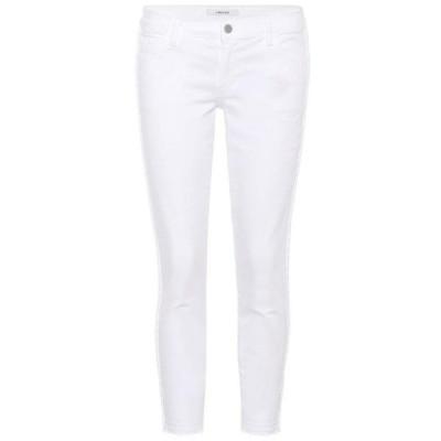 ジェイ ブランド J Brand レディース ジーンズ・デニム クロップド ボトムス・パンツ Low-rise cropped skinny jeans Braided Blanc