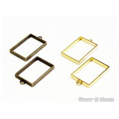 セッティング台(枠タイプ) 長方形 真鍮古美/ゴールド 22mm×33mm
