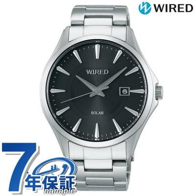 【25日は全品5倍に+4倍でポイント最大19.5倍】 セイコー ワイアード 時計 ソーラー メンズ 腕時計 AGAD410 SEIKO WIRED ブラック 黒