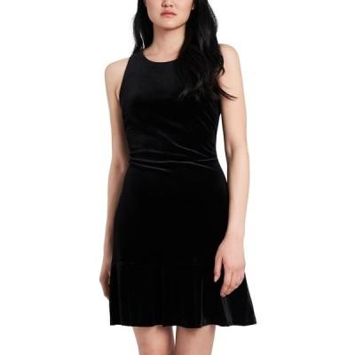 ライリー レイ ワンピース トップス レディース Francesca Velvet Knit Dress, Created for Macy's Rich Black