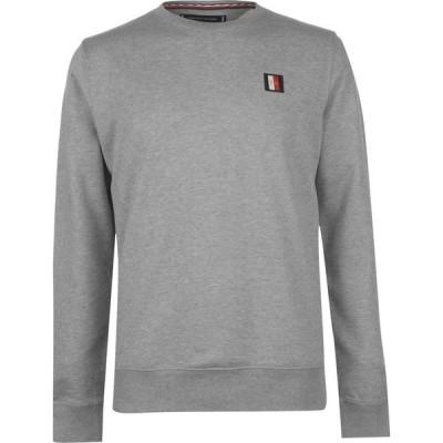 トミー ヒルフィガー Tommy Hilfiger メンズ ニット・セーター トップス icon badge crew sweater Cloud Htr