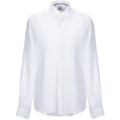 SPINNAKER シャツ ホワイト 38 リネン 100% シャツ