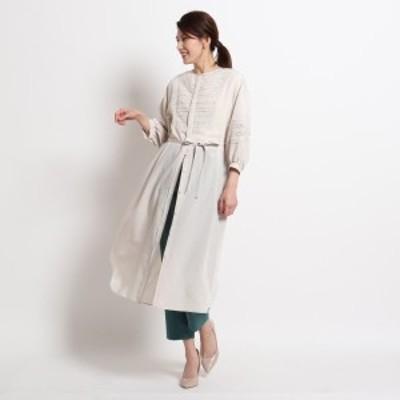 スーナウーナ(SunaUna)/【洗える】チャイレースシャツワンピース
