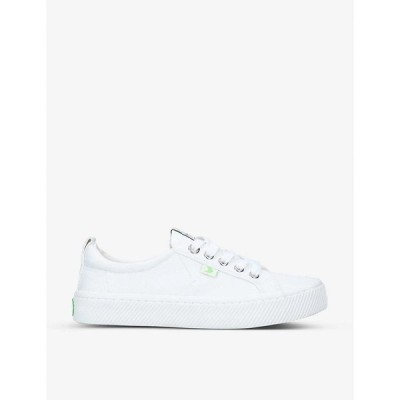 カリウマ CARIUMA レディース スニーカー レースアップ シューズ・靴 OCA Low lace-up canvas trainers WHITE