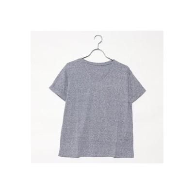 スタイルブロック STYLEBLOCK シンプルVネックTシャツ (ネイビー)