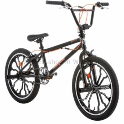 BMX 20インチ男の子女の子子供キッズユーススチールフリースタイルフレームBMXバイク自転車ブラック  20 inch Boys
