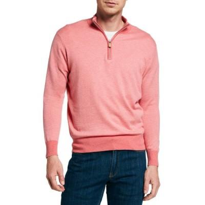ピーター・ミラー メンズ ニット・セーター アウター Men's Crown Birdseye Quarter-Zip Sweater