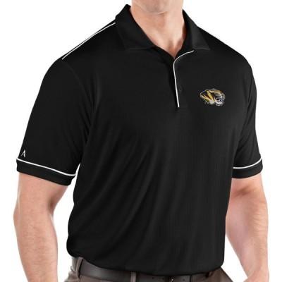 アンティグア Antigua メンズ ポロシャツ トップス Missouri Tigers Salute Performance Black Polo
