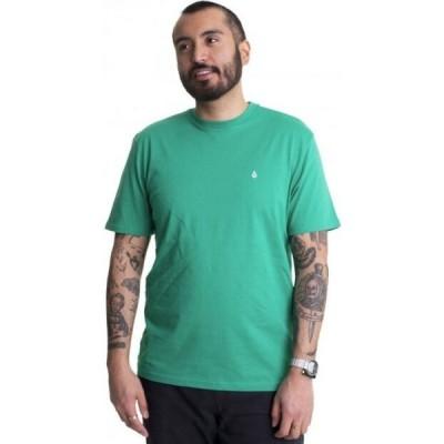 ボルコム Volcom メンズ Tシャツ トップス - Stone Blanks Basic Synergy Green - T-Shirt green