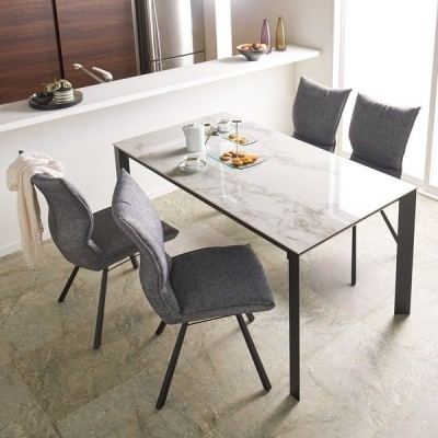 家具 収納 テーブル 机 ダイニングテーブル セラミック天板ダイニングシリーズ テーブル幅150cm 568802