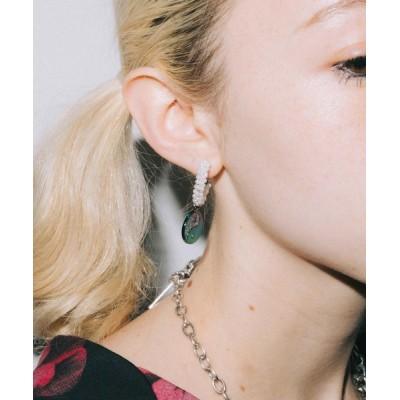 X-girl / YIN-YANG HOOP EARRINGS WOMEN アクセサリー > ピアス(両耳用)