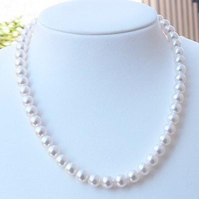 真珠 ネックレス パール ピアス 2点セット 8mm-8.5mm あこや レディース 冠婚葬祭
