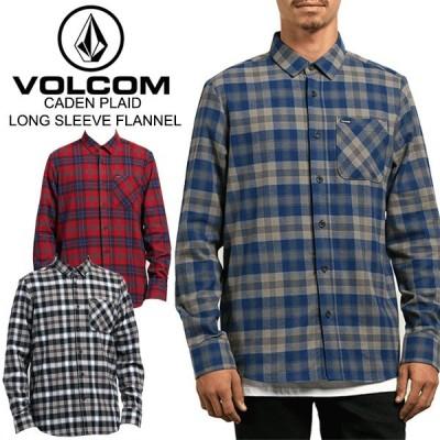 ボルコム(VOLCOM) CADEN PLAID LONG SLEEVE FLANNEL(A0531804) 長袖シャツ ネルシャツ 男性用[AA]