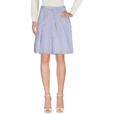 ディースクエアード DSQUARED2 ひざ丈スカート ダークブルー 36 100% コットン ひざ丈スカート