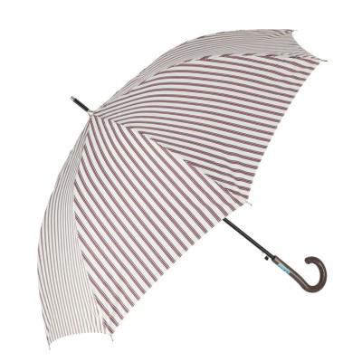 ノーブランド No Brand amusant sous la pluie 60cm 耐風長傘 10mm (27500.縦ストライプ_ベージュ)
