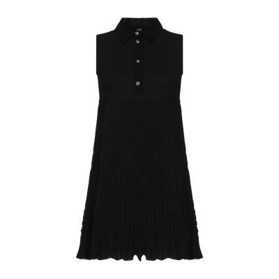 VERSUS VERSACE ミニワンピース&ドレス ブラック 38 100% ポリエステル アセテート ミニワンピース&ドレス