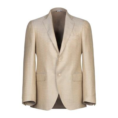 TOMBOLINI テーラードジャケット サンド 52 ウール 50% / シルク 25% / 麻 25% テーラードジャケット