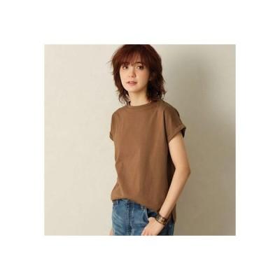 ジーラ GeeRA 綿100%フレンチスリーブTシャツ (ブラウン)