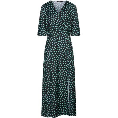 SPAGO DONNA ロングワンピース&ドレス ブラック 40 ポリエステル 100% ロングワンピース&ドレス