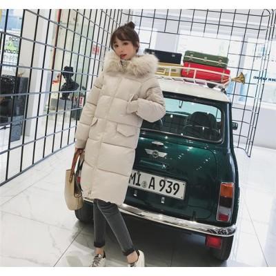 超お買い得タイムセール 冬 新作 綿 女性 韓国 厚手 女の子ファッション ゆったりする ロングセクション  原宿BF风  カレッジ風 カジュアル 百掛け 綿 気質 スリム コート