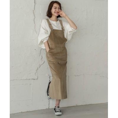 La-gemme / コーデュロイサロペットスカート WOMEN オールインワン・サロペット > サロペット/オーバーオール