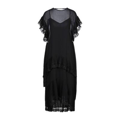 ZIMMERMANN 7分丈ワンピース・ドレス ブラック 1 ポリエステル 100% / ポリウレタン 7分丈ワンピース・ドレス