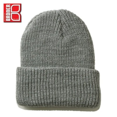 ブローナー ニット帽 帽子 BRONER メンズ レディース 無地 シンプル gy