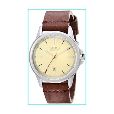 Electric Unisex EW0130050034 Carroway Leather Band Analog Display Japanese Quartz Brown Watch【並行輸入品】