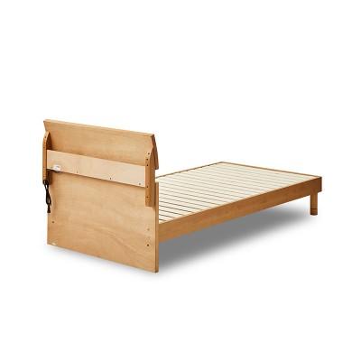 EO381_【開梱設置 完成品】デニール3 シングル ベッド レッグタイプ アルダー すのこ コンセント付き ベッドフレーム シンプル モダン 家具