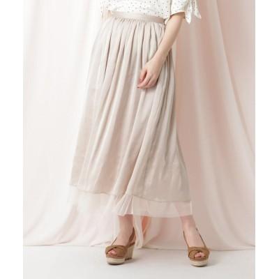 Couture Brooch(クチュールブローチ) 【洗える】チュールロングスカート