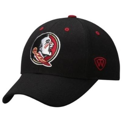 トップ・オブ・ザ・ワールド メンズ 帽子 アクセサリー Florida State Seminoles Top of the World Dynasty Memory Fit Fitted Hat Black