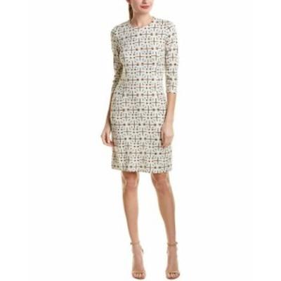 Shift  ファッション ドレス J.Mclaughlin Catalina Cloth Shift Dress M Beige