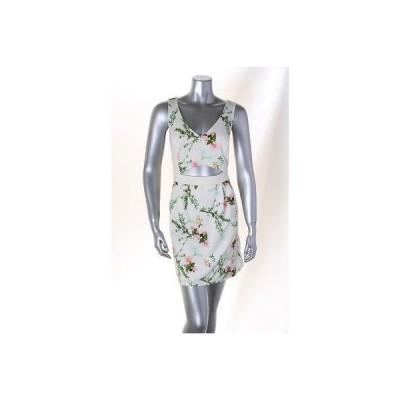 メイド/アパレル インク ドレス ワンピース フォーマル Made マルチ Sleevless フローラル V Neck Cutout Front ドレス サイズ 10 79LAFO
