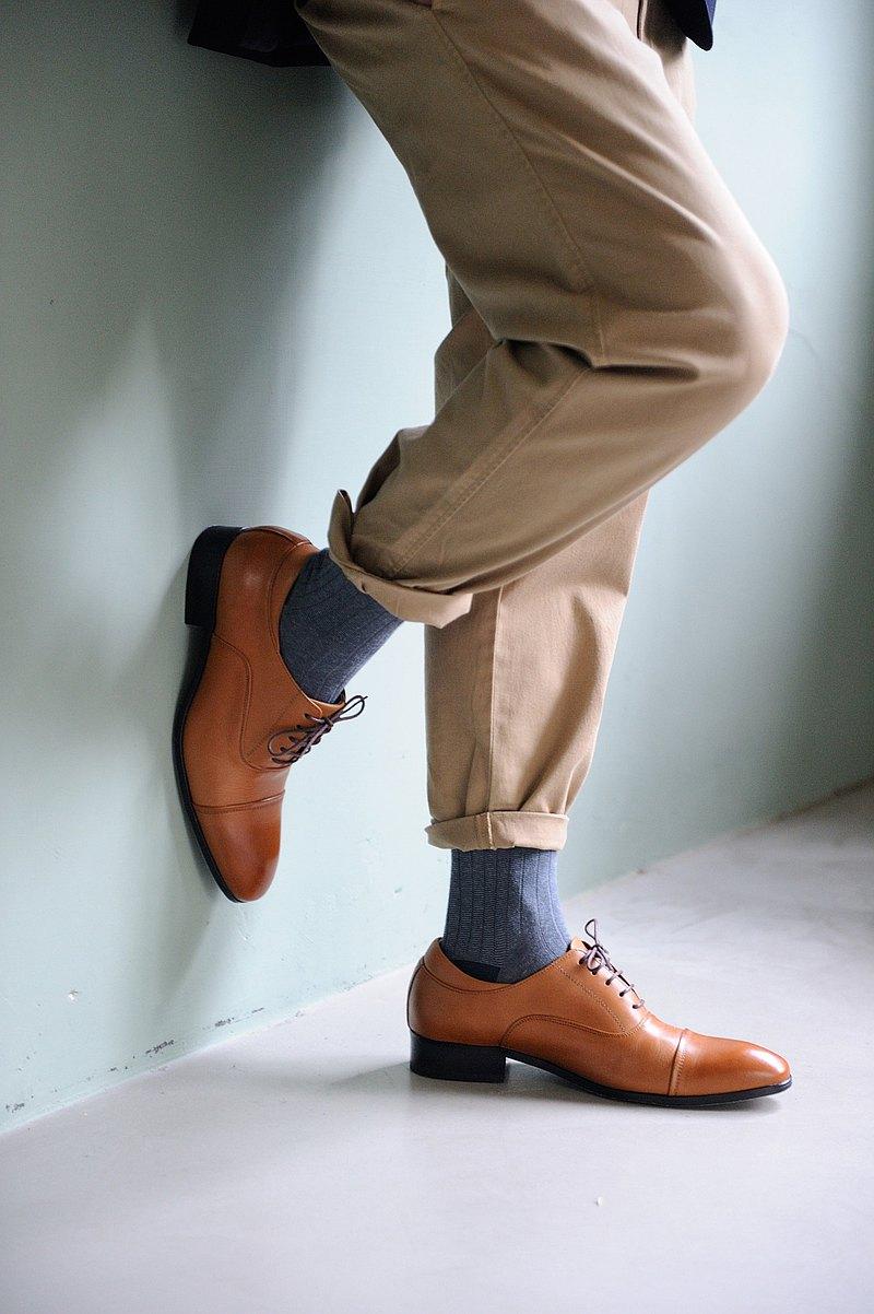 牛津鞋基本款 蜜棕色 紳士鞋 商務鞋 皮鞋 男