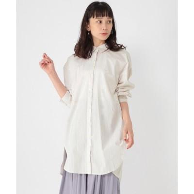 シャツ ブラウス [取扱い店舗限定]ドビーバックタックシャツチュニック