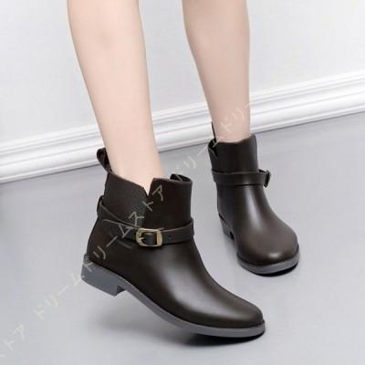 レインブーツ ショート レインブーツ 軽量 女性 レインシューズ レディース エンジニア ミドル丈 防水 長靴 雨靴 ラバー 軽い 靴 女性 婦人 大きいサイズ