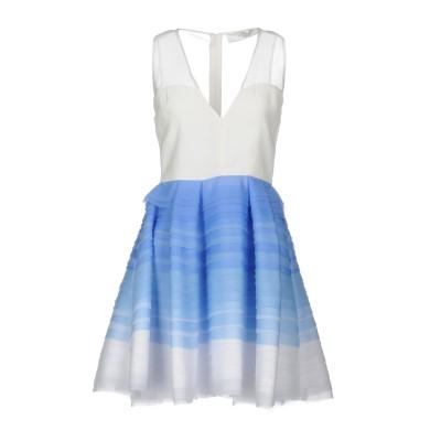 ELISABETTA FRANCHI GOLD ミニワンピース&ドレス アジュールブルー 44 ポリエステル 100% ミニワンピース&ドレス