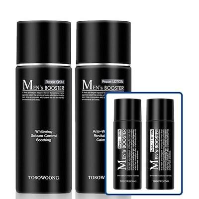 [トソウン]男性化粧品全体1位のメンズブースター化粧水+ローション+旅行用セット