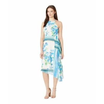 Donna Morgan ドナモーガン ドレス 一般 Sleeveless Halter Asymmetrical Chiffon Dress