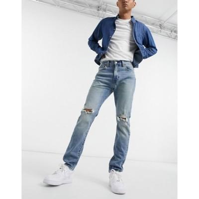 リーバイス メンズ デニムパンツ ボトムス Levi's 510 skinny fit jeans in simoom blue