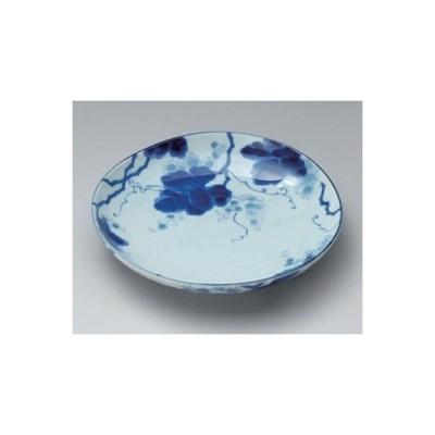 和食器 / 丸和皿 藍染ぶどう8.0皿 寸法:23 x 4cm
