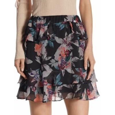 クロスレイ レディース スカート Floral-Printed Mini Skirt